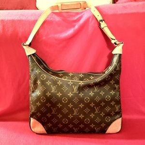 Authentic Louis Vuitton Boulogne 35 Shoulder Handb